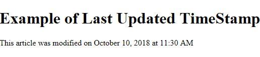 last updated date