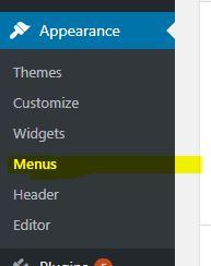 create menu wordpress