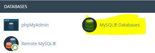 MySql Databases wordpress