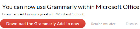 Grammarly Microsoft office