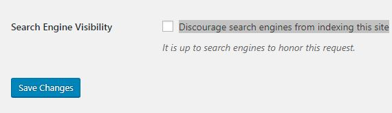 Discourage Search Engines