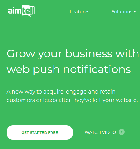 AimTell Web Push Notifications