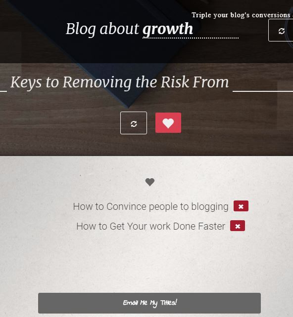 BlogAbout Headline Generator