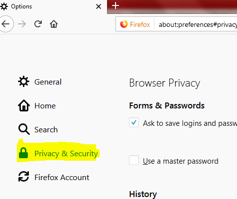 Firefox Privacy Security Logins