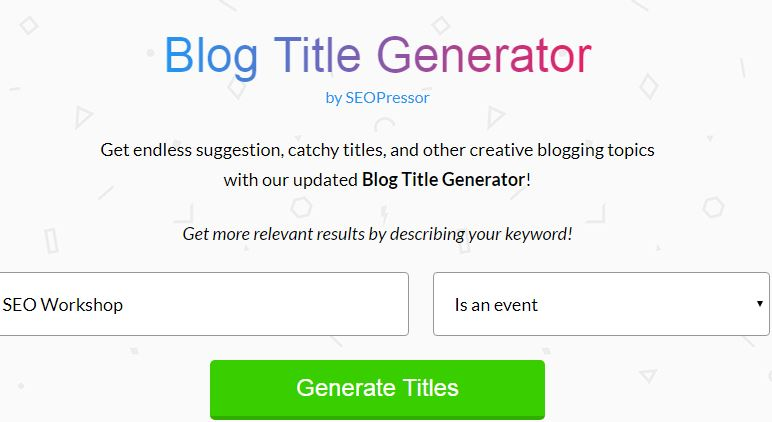 SEOPressor Title Generator For Blog