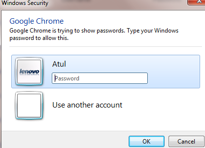 Chrome passwords