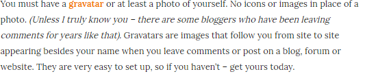 Blog Commenting Rules