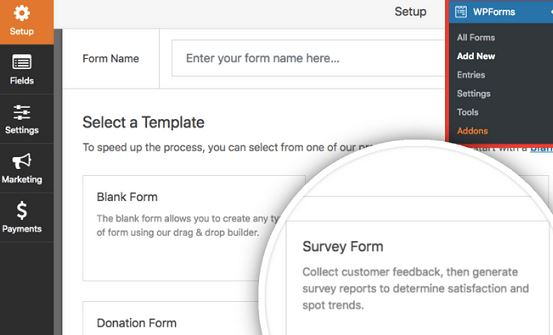 Create Survey Form in WordPress