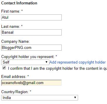 Google DMCA Notice