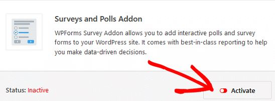 Survey and Polls Addon wordpress