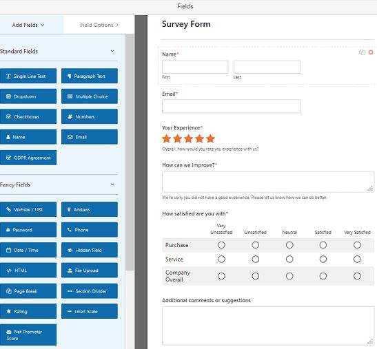 how to create a survey form in wordpress  with pictures