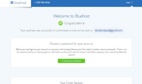 Start Blog Bluehost Congrats Email