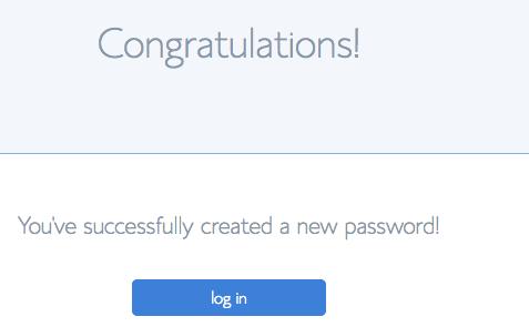 Bluehost Blog password created