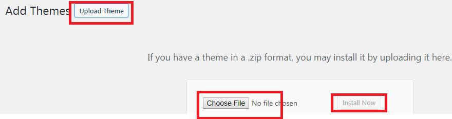 Start Blog Upload Theme